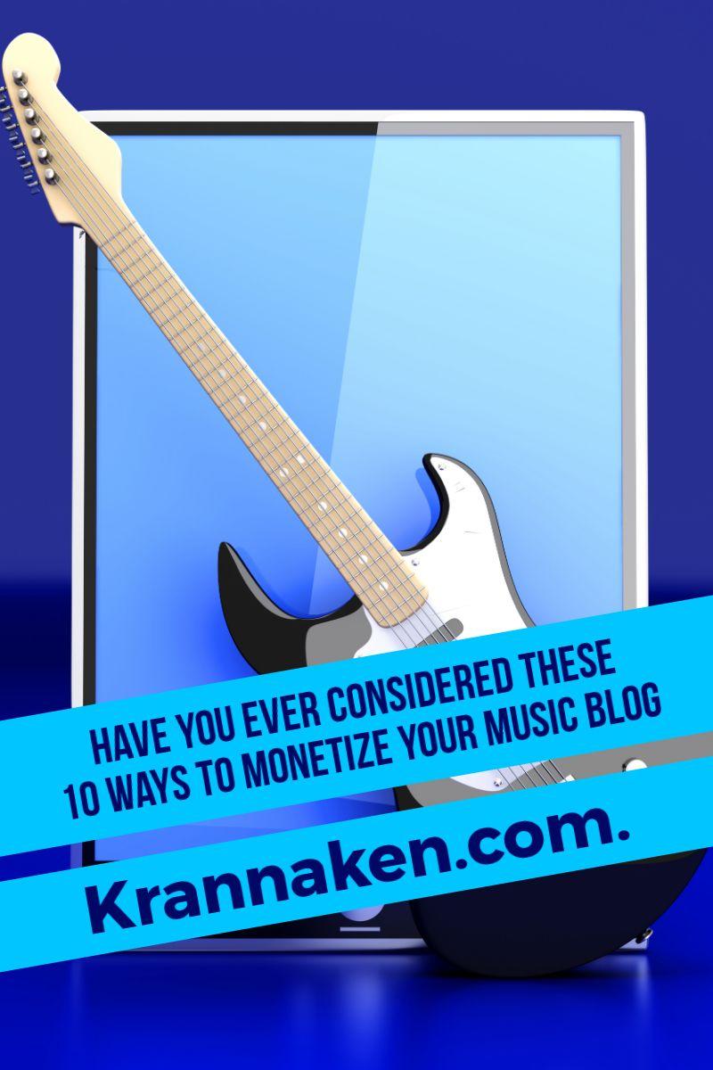 monetize a music blog