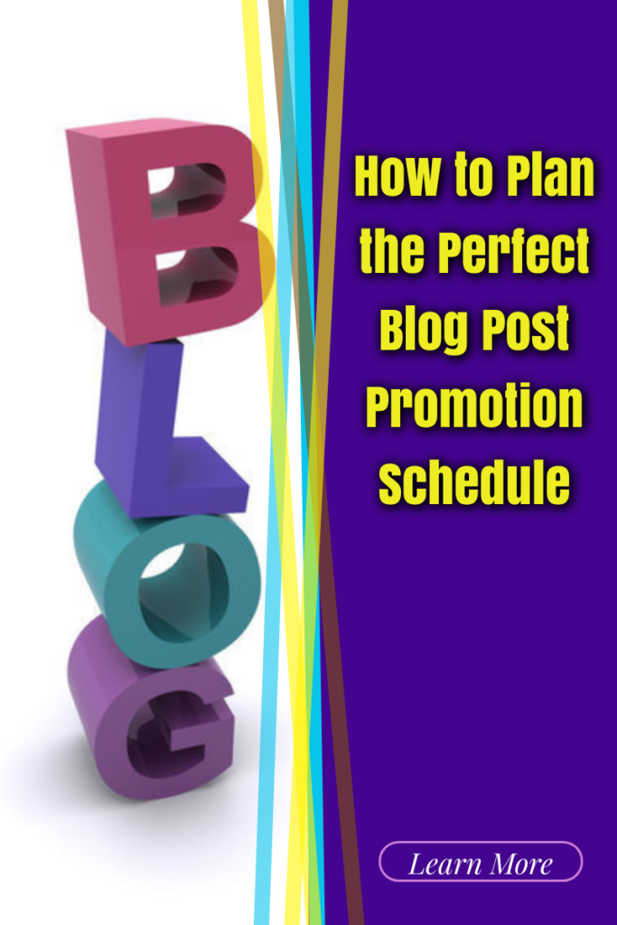blog post promotion schedule