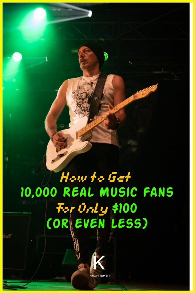 how to get 10000 real music fans