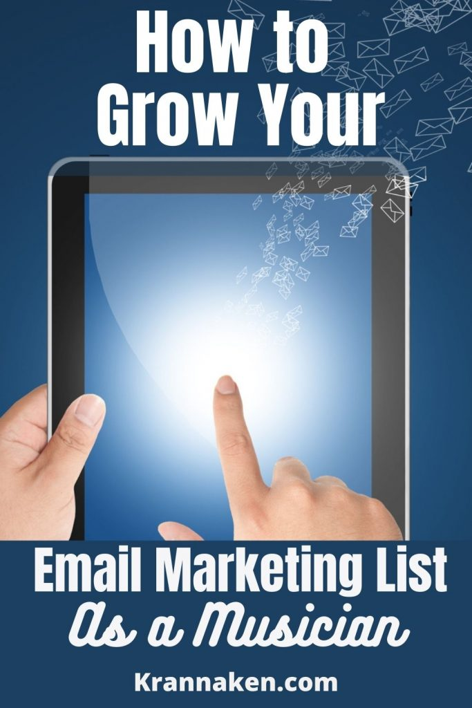 Pinterest pin about how to grow your email list with these email marketing service providers