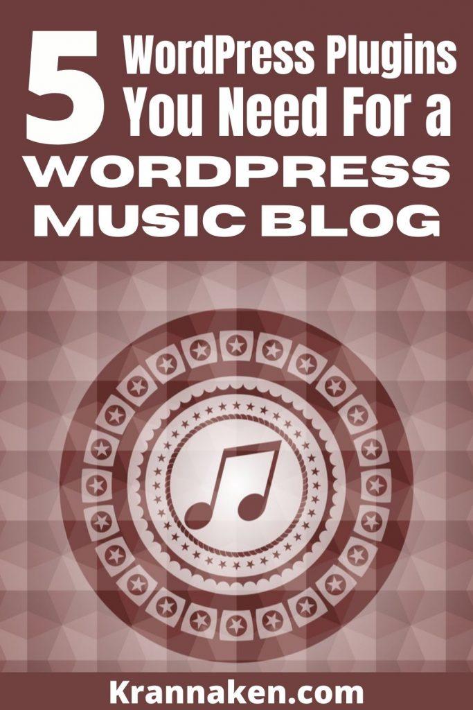 website WordPress plugins music blog music site