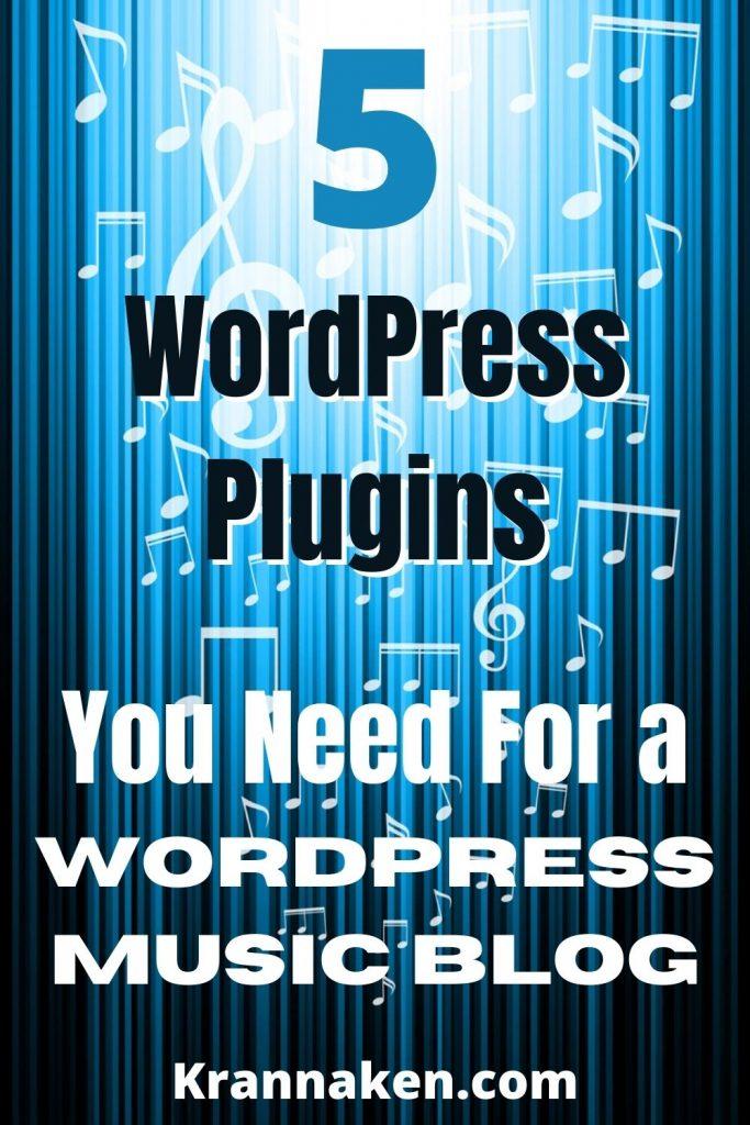 music website WordPress plugins music blog music site