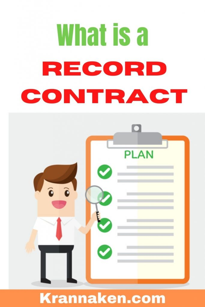 Pinterest pin reads What is a Record Contract What to look out for in a record contract
