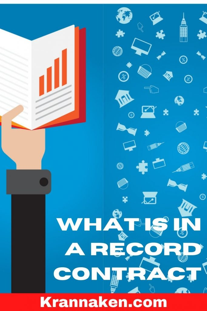 Pinterest pin reads What Is In A Record Contract, what to look out for in a record contract